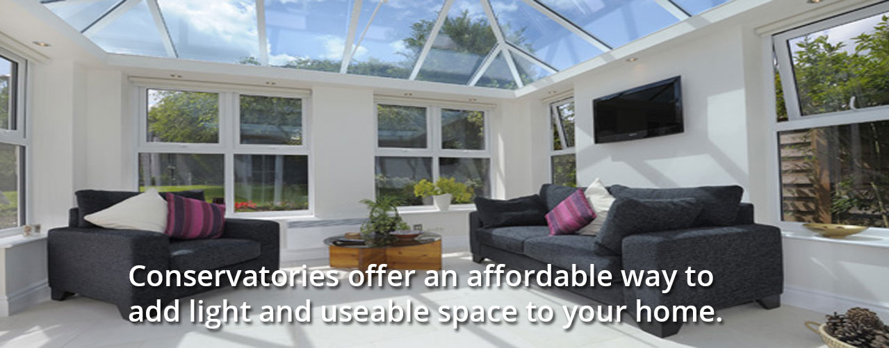 Conservatories offer a low cost to add light and useable space to your home.